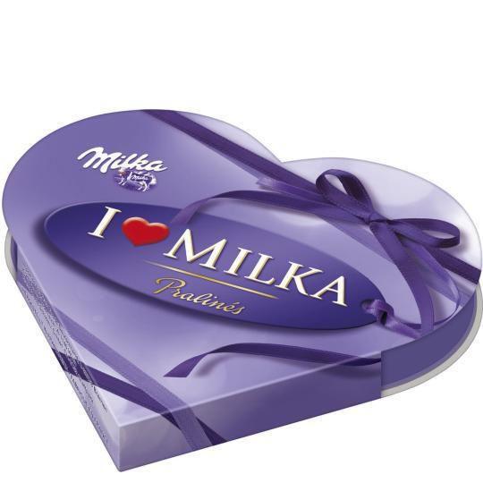 I Love Milka Geschenkherzen, Haselnuss-Nougat