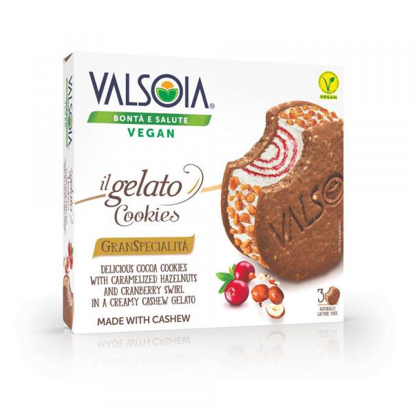 Eis, Kakaokekse/Cranberry/Haselnuss, vegan