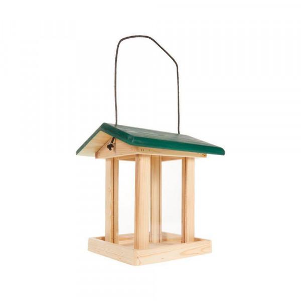 Vogel-Futterhaus mit Futtersilo, 21x21x28cm