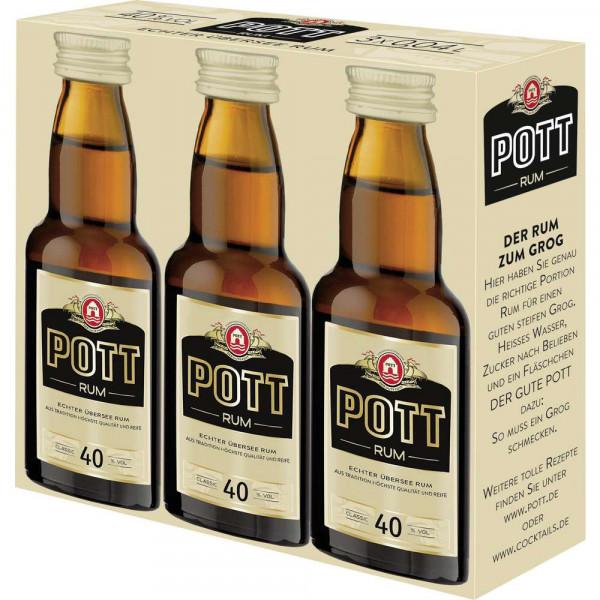 Rum 40% 3-er Mini, 3 x 0,04l (1 x 0.12 Liter)