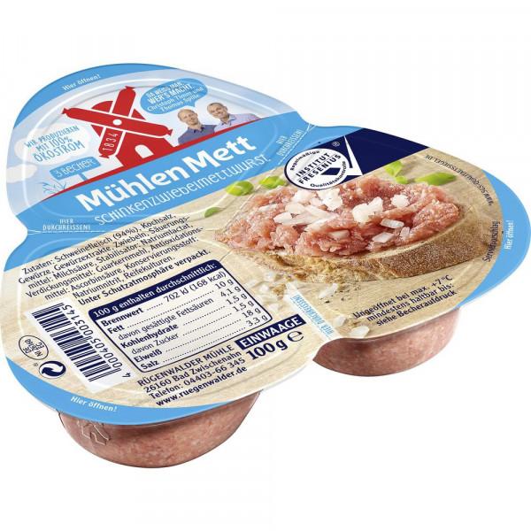 Mett Schinken-Zwiebelwurst