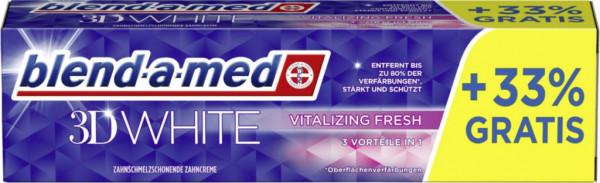 """Zahncreme """"3D White"""", vitalizing fresh"""