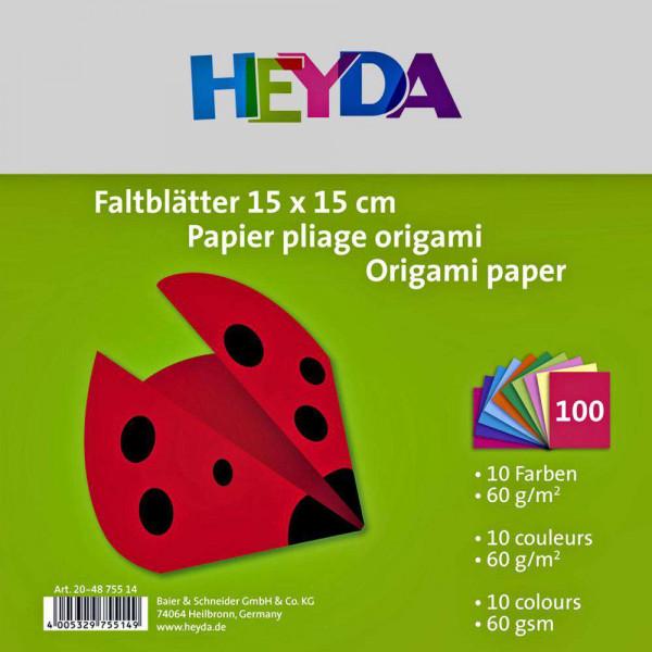 Faltblätter A4, verschiedene Farben