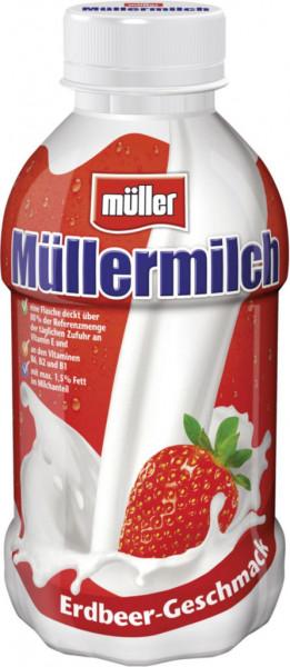 Müllermilch, Erdbeere (1 x 400 Milliliter)