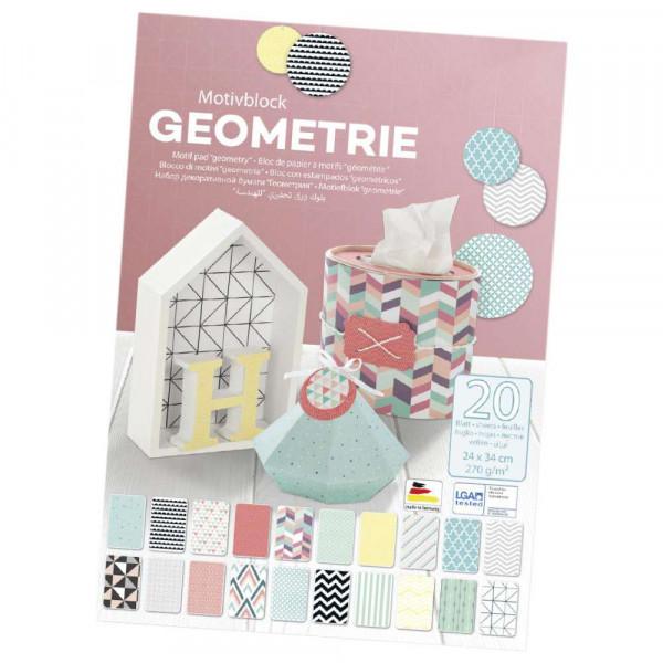 Geometrie Motivblock, 20 Blatt