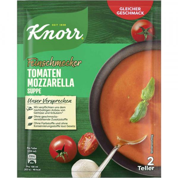 Feinschmecker Tomaten-Mozzarella-Suppe