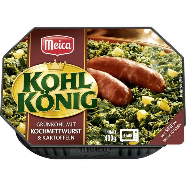 Kohlkönig, Grünkohl mit Kochmettwurst