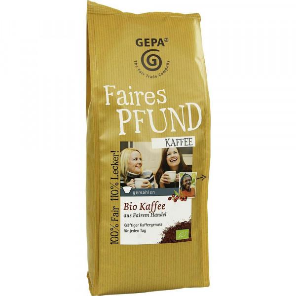 Das Faire Pfund Bio Kaffee, gemahlen