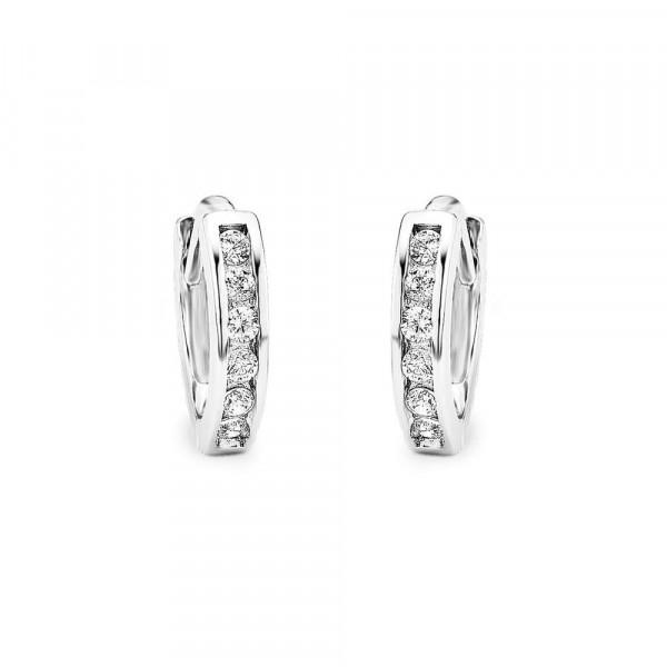 Ohrringe/ Creolen aus Silber mit Zirkonia (4020689968176)