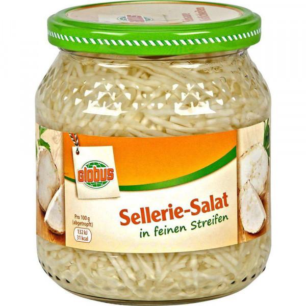 Selleriesalat in Streifen