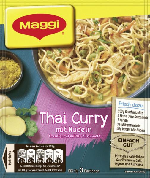 Fix-Würzmischung, Thai Curry mit Nudeln