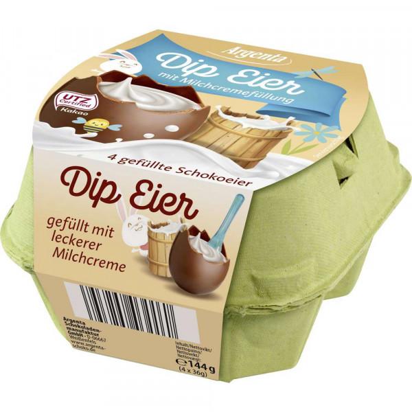 Schokoladeneier mit Milchcremefüllung