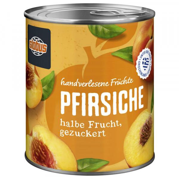Pfirsiche, halbe Frucht