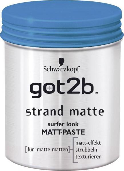 """got2b """"Strand Matte Surfer Look"""" Matt-Paste"""
