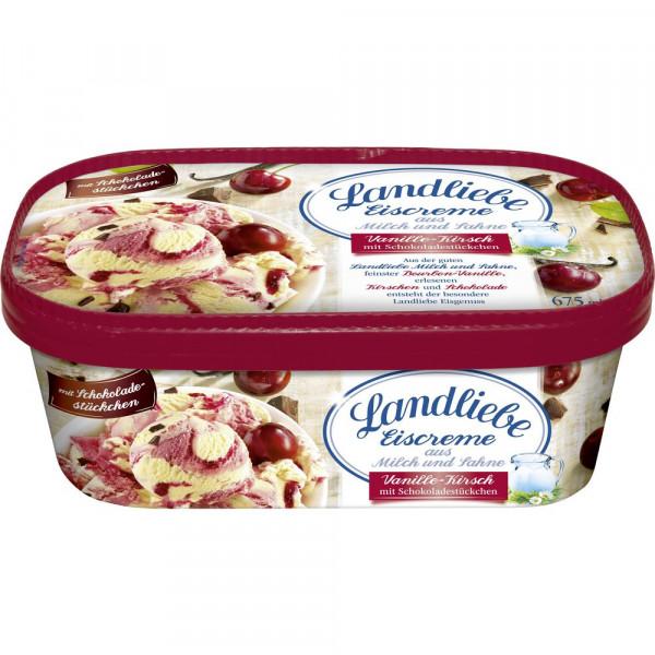 Vanille/Kirsch Eiscreme