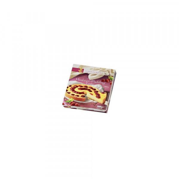 Torte Himbeere-Pudding