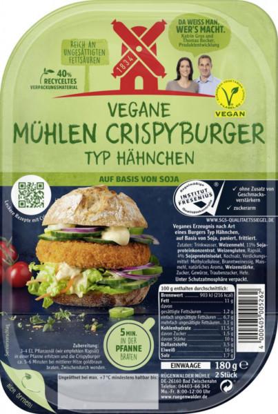 Vegetarische Mühlen Crispyburger