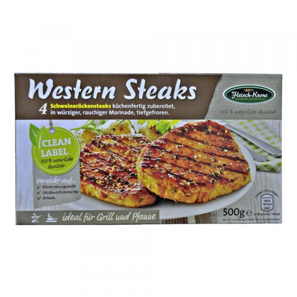 4 Western Steaks, tiefgekühlt
