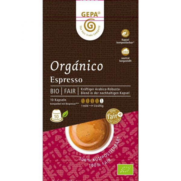 "Kaffee-Kapseln ""Bio Orgánico Espresso"""