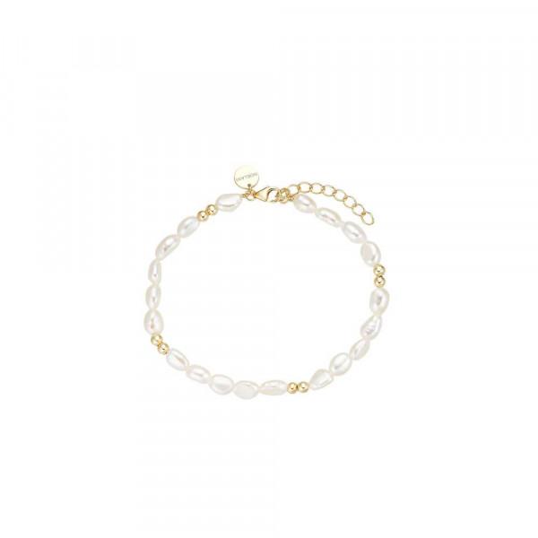 Damen Armband aus Silber 925 mit Süßwasserzuchtperlen, vergoldet (4056874028424)