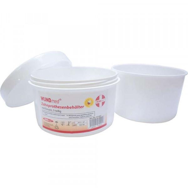 Zahnprothesenbehälter mit Einsatz, 3-teilig