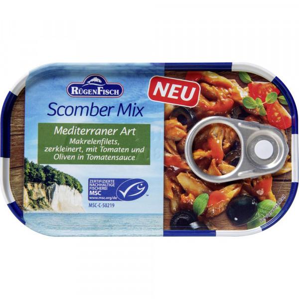Scomber Mix, Makrelenfilets, Mediterrane Art