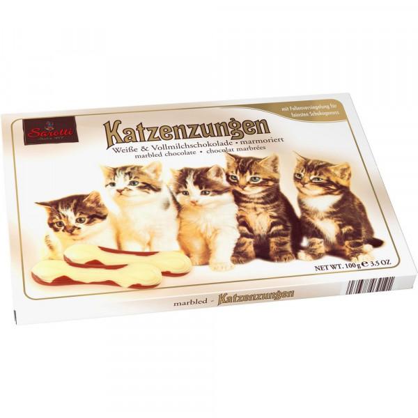 Katzenzungen, Weiße & Vollmilchschokolade