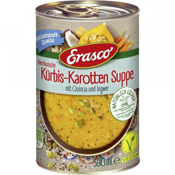 Suppe, Kürbis-Karotte mit Quinoa und Ingwer