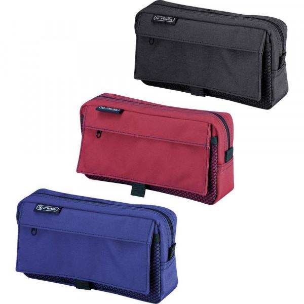 Faulenzer-Mäppchen mit 2 Außentaschen, versch. Farben