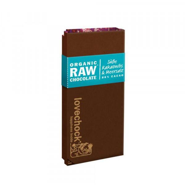 Bio Tafelschokolade, Kakaonibs mit Meersalz, 85 %