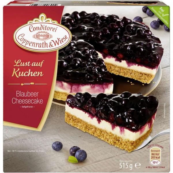 Kuchen: Blaubeer-Cheesecake, tiefgekühlt