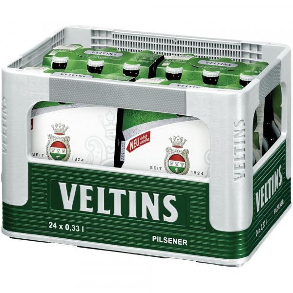 Pilsener Bier, 4,8%(4 Sixpacks in der Kiste zu je 6 x 0.33 Liter)