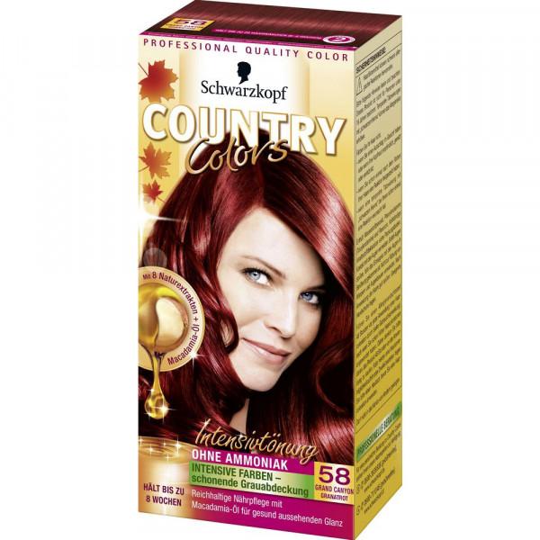 """Haartönung """"Country Colors"""", 58 Granatrot"""