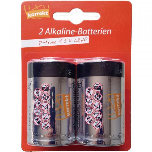 Mono Batterien LR20 D, Alkaline