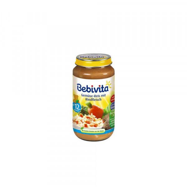 Babynahrung Menü, Gemüse/Reis/Rind