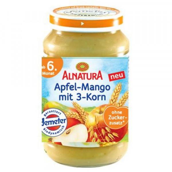 "Babynahrung ""Frucht & Getreide"", Apfel/Mango/3-Korn, ab 6. Monat"