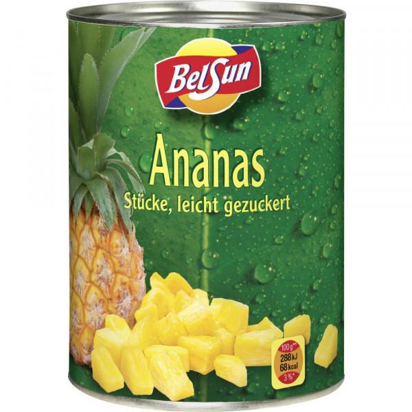Ananas Stücke, leicht gezuckert