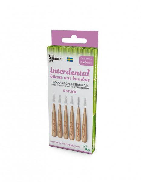 Bambus-Interdentalbürsten 0,4mm