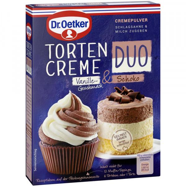 Tortencreme Duo, Vanille-Schoko