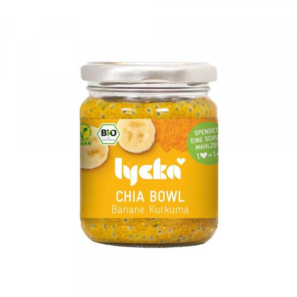 Chia-Bowl, Banane-Kurkuma