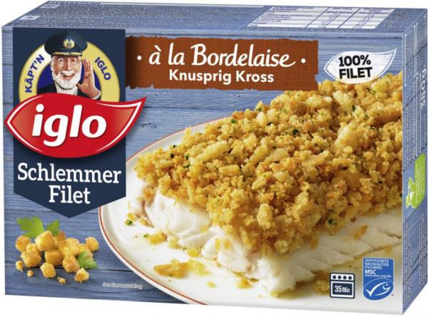 """Schlemmer-Filet """"à la Bordelaise knusprig kross"""", tiefgekühlt"""