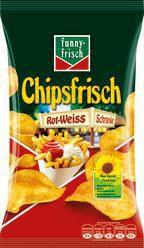 Chipsfrisch, Schranke rot-weiss