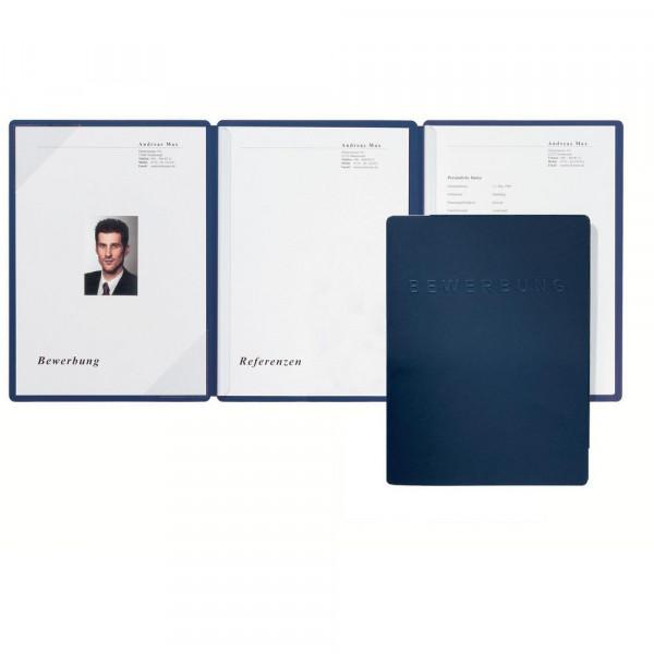 Bewerbungsmappe, DIN A4, blau