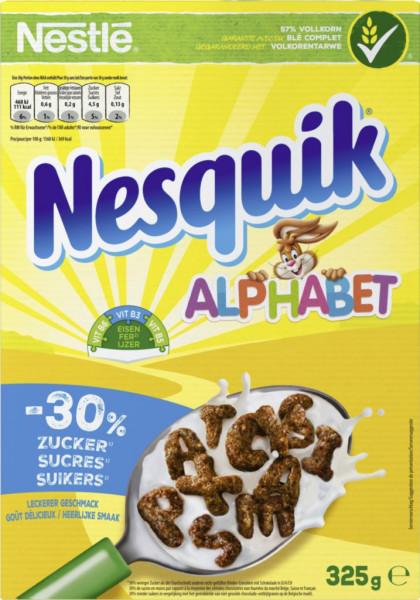 Nesquik Cerealien, Alphabet