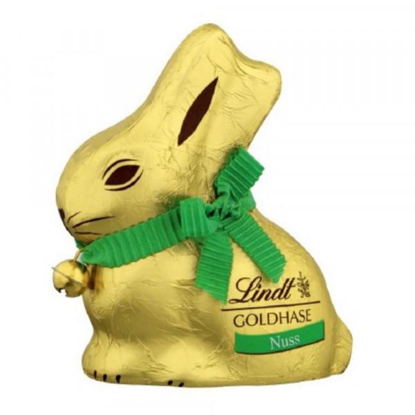 Schokoladen-Goldhase, Nuss