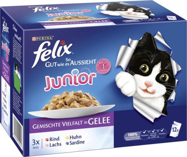 """Katzenfutter Felix """"So gut wie es aussieht"""" Junior, gemischte Vielfalt"""