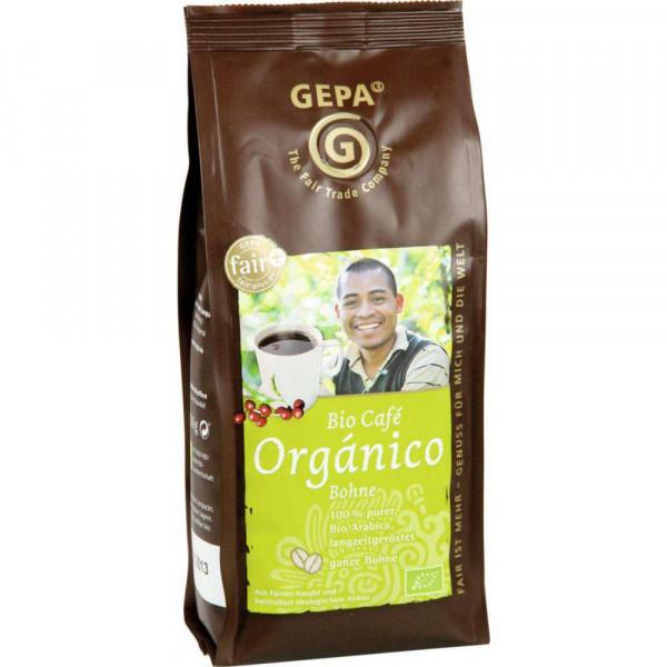 Bio Kaffee Orgánico naturmild, ganze Bohne