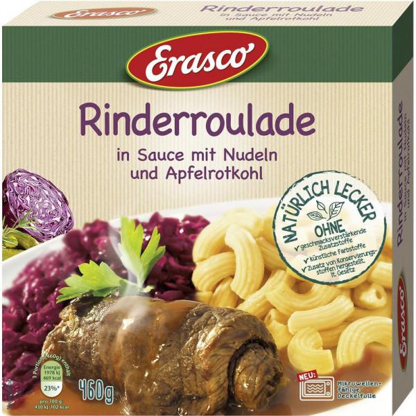 Rinderroulade in Sauce mit Nudeln & Apfelrotkohl