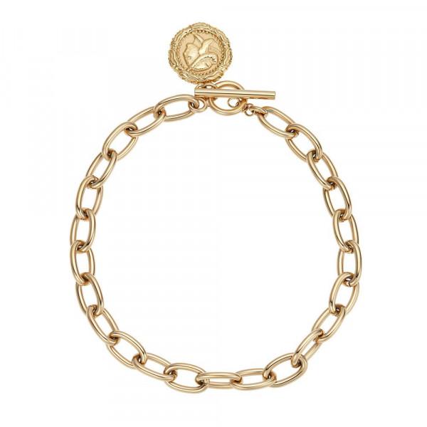 Damen Armband aus Edelstahl, vergoldet (2030644)
