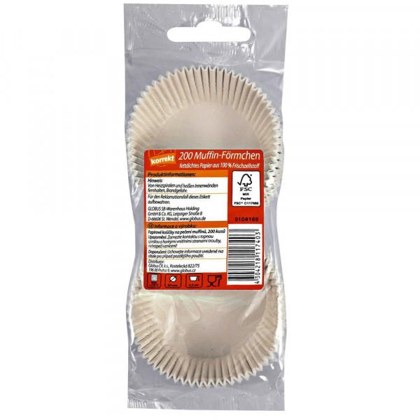 Muffinbackförmchen weiß, 50 x 32 mm